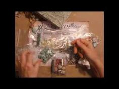 """▶ Recycled Cereal Box Smash Book or Scrapbook Part 3 """"The Binding & The Beading"""" - YouTube"""
