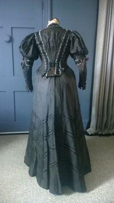 Decorative 1890s Silk Dress - Paris / Russian Label