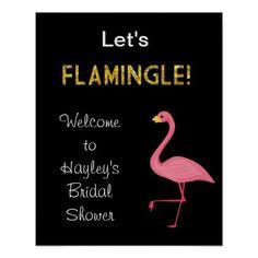 bridal bridal shower or bachelorette sign luau theme poster
