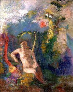 Landscape with Eve - Odilon Redon ca.1900