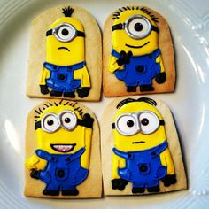 Despicable Me Cookies! By Katrina Tines. #Cookies