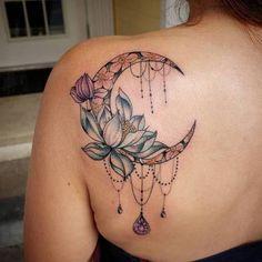 Tattoo Femeninos, Tattoo Hals, Back Tattoo, Body Art Tattoos, Tattoo Drawings, Sleeve Tattoos, Moon Tattoo Designs, Tattoo Designs And Meanings, Tattoo Designs For Women
