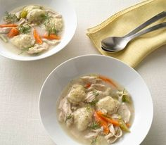 Chicken and dumplings. I add garlic about 30 seconds before the flour and fresh thyme to the dumplings. Easy and delicious.