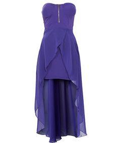 Ax Paris Purple Dip Hem Bandeau Dress