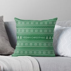 Promote   Redbubble Golden Pattern, Teal Background, Ethnic, Throw Pillows, Vegan, Toss Pillows, Cushions, Decorative Pillows, Decor Pillows