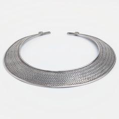 Colier statement unicat Khajee, argint, Thailanda #metaphora #silverjewelry #silverjewellery #necklace #thailand #statement #collar