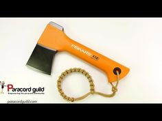 Simple paracord axe lanyard (with wrist loop) - YouTube