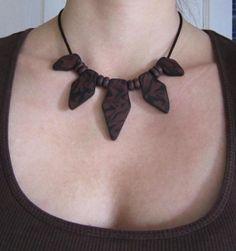 Tribal woodenlike statement necklace by AFrogInLondon on Etsy, £28.00