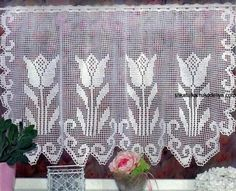 Crochet Curtains Archives - Beautiful Crochet Patterns and Knitting Patterns Crochet Curtain Pattern, Crochet Curtains, Crochet Tablecloth, Crochet Doilies, Filet Crochet, Crochet Art, Thread Crochet, Valance Patterns, Doily Patterns