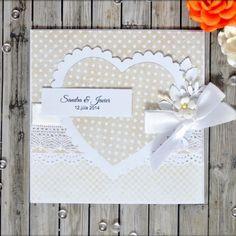 Srdce Heart handmade wedding invitation