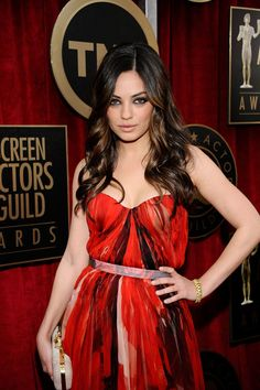 Mila Kunis Actress Mila Kunis arrives at the 17th Annual Screen Actors Guild Awards held at The Shrine Auditorium on January 30, 2011 in Los...