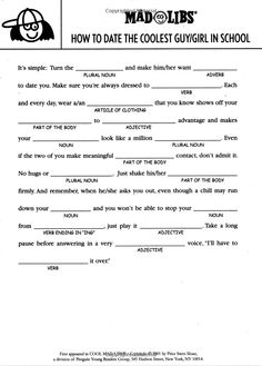 Mad libs dating