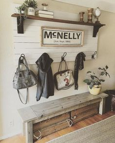 Best 45 DIY Farmhouse Entryway Inspirations http://godiygo.com/2017/11/26/45-diy-farmhouse-entryway-inspirations/ #homefurniture2017 #FarmhouseLamp
