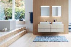 New bathroom furniture series Brioso, designed by Christian Werner for Duravit Minimalist Bathroom Design, Bathroom Interior Design, Minimalist Home, Duravit, Cozy Furniture, Bathroom Furniture, Furniture Design, Family Bathroom, Small Bathroom