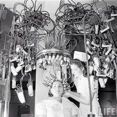 Inside a beauty school