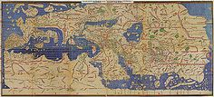 "The Nuzhat al-mushtāq fi'khtirāq al-āfāq (Arabic: نزهة المشتاق في اختراق الآفاق, lit. ""the book of pleasant journeys into faraway lands""), most often known as the Tabula Rogeriana (lit. ""The Book of Roger"" in Latin), is a description of the world and world map created by the Arab geographer, Muhammad al-Idrisi, in 1154."