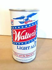 Walter's '76 Light Ale Pull Tab Straight Steel Beer can