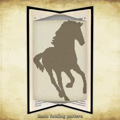 Book folding pattern Horse for 164 folds - ID0000645
