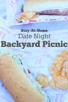 Easy Stay-at-home date night. Back Yard Picnic