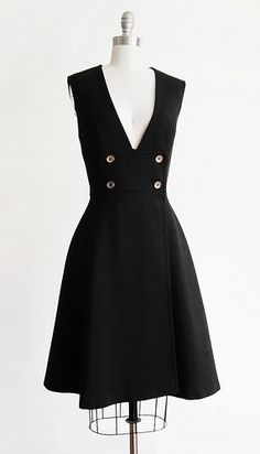 Vintage 1960s SHADOW ARCHIVE Pinafore Dress
