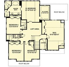 second floor -- Open Floor Plan Farmhouse - 30081RT   2nd Floor Master Suite, Bonus Room, Butler Walk-in Pantry, CAD Available, Corner Lot, Country, Den-Office-Library-Study, Farmhouse, In-Law Suite, Media-Game-Home Theater, PDF, Photo Gallery, Traditional   Architectural Designs