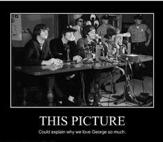The Beatles at an interview.