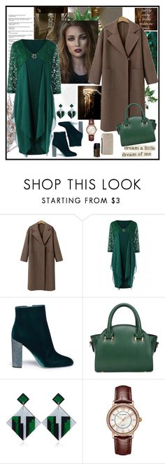"""""""Elegant Festive Style"""" by carola-corana ❤ liked on Polyvore featuring Dress the Population, GET LOST, René Caovilla, blackfriday, cybermonday and rosegal"""