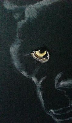 """WIP - Black Panther"" #Creative #Art in #painting @Touchtalent"