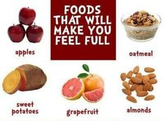 Foods that will make you feel full..  Which is your favorite here?