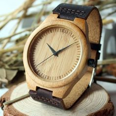 BOBO BIRD New arrival japanese miyota 2035 movement wristwatches genuine leather bamboo wooden watches for men and women