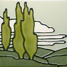 Duquella handmade tiles, Portland Oregon. 5039  Landscape. Sigh.