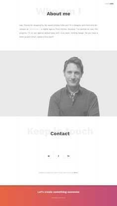 My personal website - contact