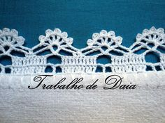 Foto: Trabalho nº 71 - Variação do bico de crochê do trabalho nº 18. Crochet Afghans, Crochet Picot Edging, Crochet Boarders, Crochet Edging Patterns, Crochet Dollies, Crochet Squares, Crochet Motif, Crochet Needles, Thread Crochet