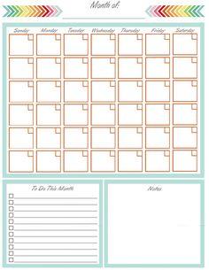 Free Planner Calendar Printable