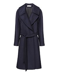 Cuyana navy wool coat