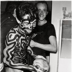 Ludovik (Body Painted by Keith Haring), Haring and Jon Sex. -Wmag