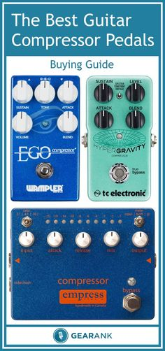 Guide to the Best Guitar Compressor Pedals. In addition to providing a recommended list of the highest rated compression pedals, this guide also explains a few things about compressors that will help you figure out which one you should get. These topics include: An explanation of Parameter Controls, Types of Compression, Using a Compressor Pedal With Other Effects and more...