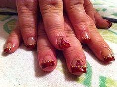 Acrylic nails #nailart  Angels baseball Www.facebook.com/eMarshallArts77