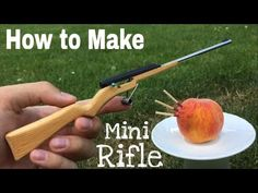 How to Make a Mini Rifle that Shoots - Matchstick Gun - YouTube