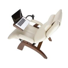 Amazon.com: Human Touch Perfect Chair Laptop Desk in Dark Walnut PC-000-400-010: Furniture & Decor Living Furniture, Furniture Decor, Furniture Design, Laptop Table, Laptop Desk, Desk Setup, Desk Chair, Computer Workstation, Industrial Design Sketch