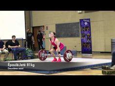 Claudie Vaillancourt 16 ans - Haltérophilie - Catégorie 63 kg Jeux du Québec régionaux - 30 janvier 2016 - YouTube