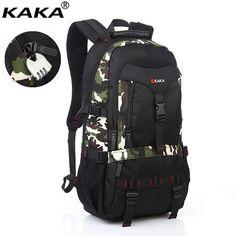 KAKA Large-Capacity Men Backpacks  Travel Mountaineering Bags Waterproof Guard Against Theft Laptop Backpack X135