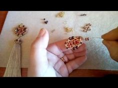Beaded Ring with Bicone Beads. 3D Beading Tutorial - YouTube