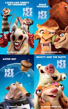 Character posters released for Ice Age: Collision Course, in cinemas July 15th