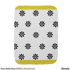 Daisy Baby Burp Cloth