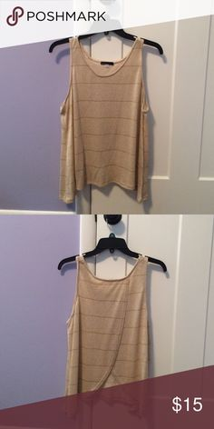 Gold shirt Gold sparkly shirt. Loose tank, with flowy open back, very comfortable. SOY Tops Tank Tops