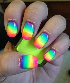 Neon Nail Art awesome