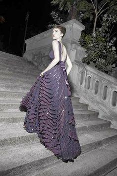 Beautiful textured purple dress
