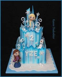 In love with my Frozen cake! by Karen Dodenbier