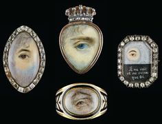 Lovers Eyes (Photo: M. Sean Pathasema, courtesy of the Skier Collection) Eye Jewelry, Pearl Jewelry, Antique Jewelry, Jewelery, Vintage Jewelry, Ancient Jewelry, Victorian Jewelry, Lovers Eyes, Photos Of Eyes